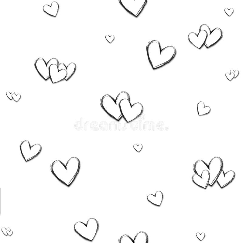 Heart Sketch Pattern vector illustration