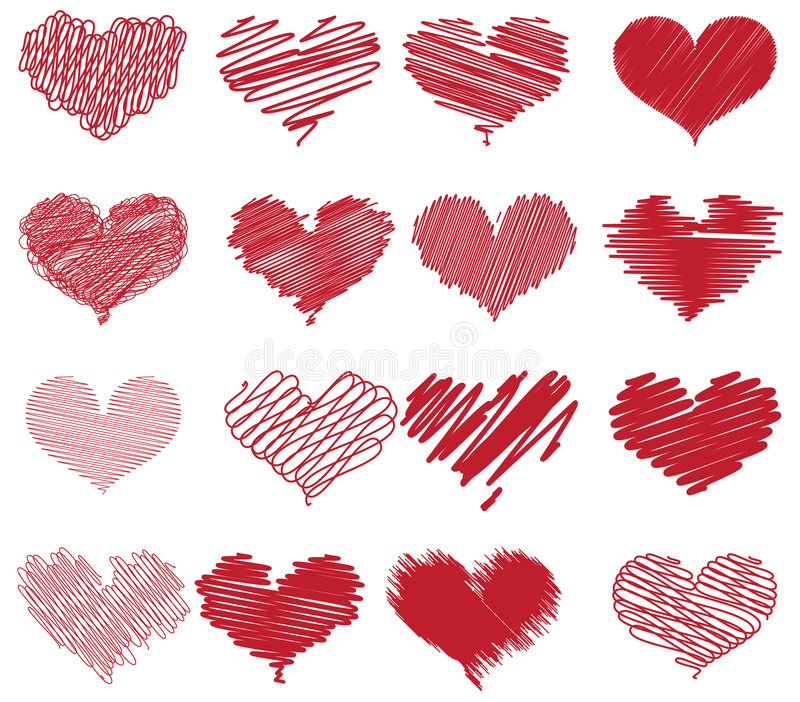 Download Heart sketches stock vector. Image of romance, affection - 8070230