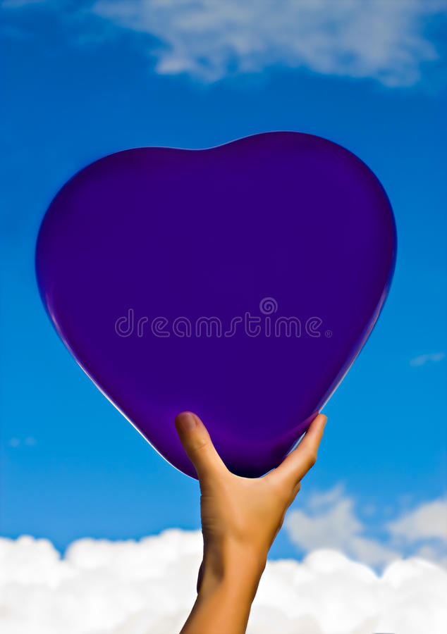 Heart in the sky royalty free stock image