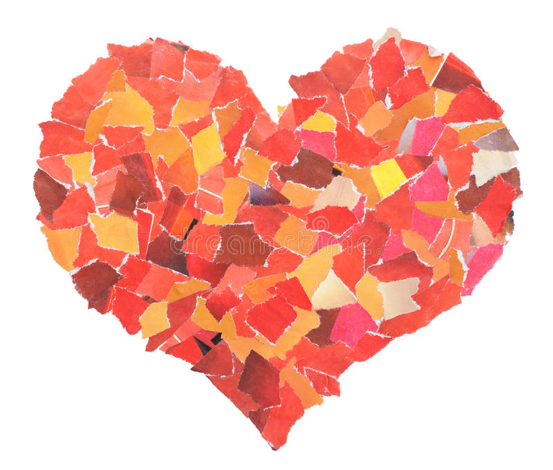 Download Heart Of Slices Of A Red Paper Stock Image - Image: 22891577