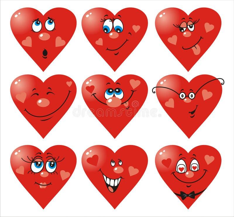 Heart Smiles to Valentine`s day stock illustration