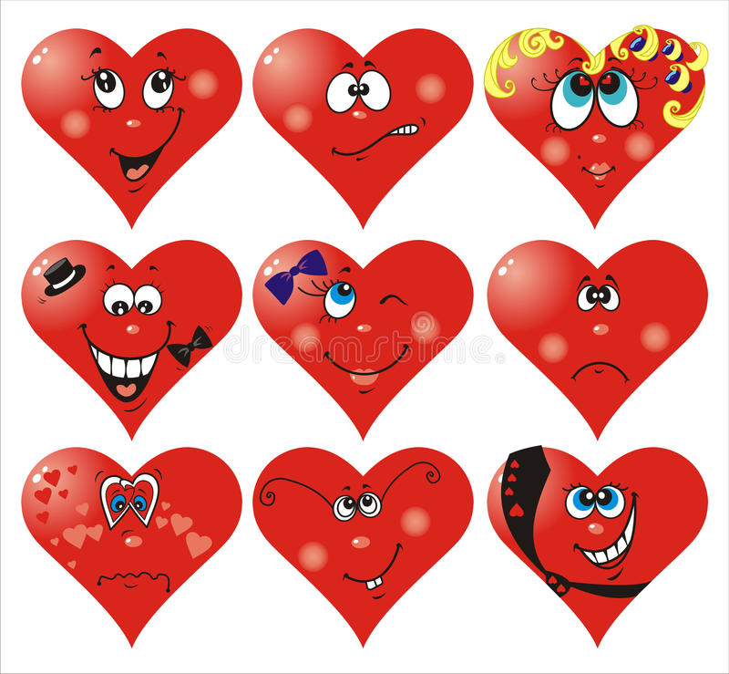 Heart Smiles to Valentine`s day royalty free illustration