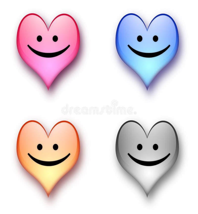 Heart smiling royalty free illustration