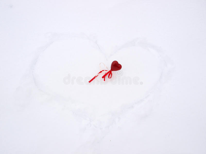 Download Heart In Snow Royalty Free Stock Image - Image: 22840596