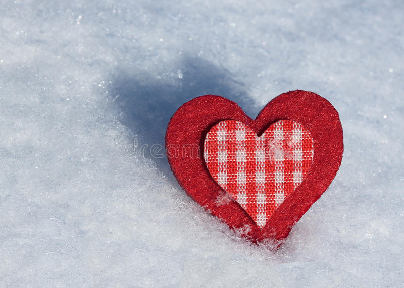 Download Heart on snow. stock photo. Image of christmas, sign - 23582756