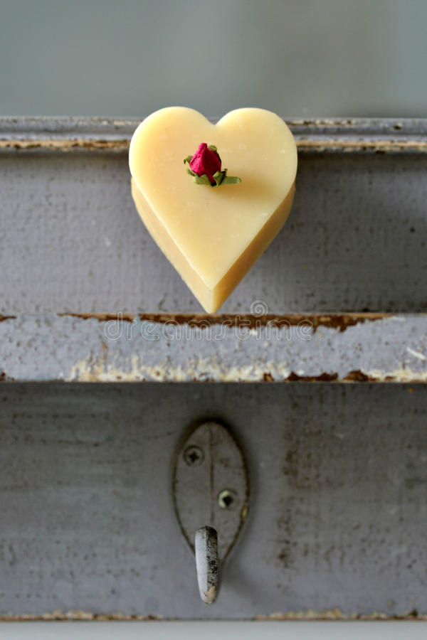 Heart soap stock images