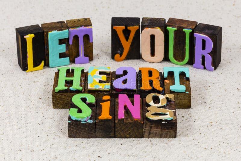 Heart soul sing song love music art valentine romance fun royalty free stock photo