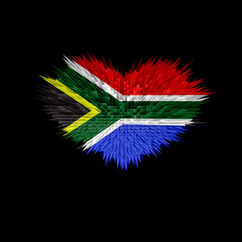 The Heart of South Africa Flag. royalty free stock images