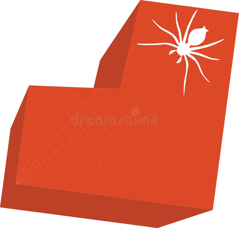 Download Heart with spider 01 stock vector. Illustration of curl - 9525260