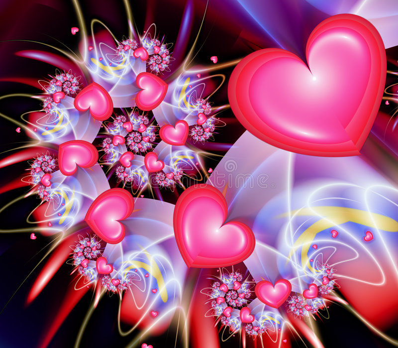 Heart Spiral stock illustration