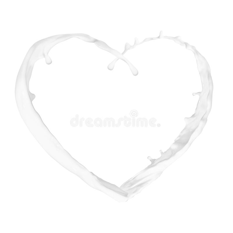 Heart from splash royalty free stock photography