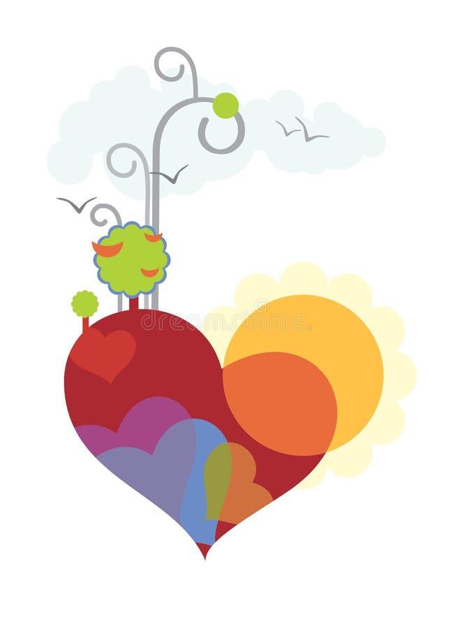 Heart of the spring stock illustration