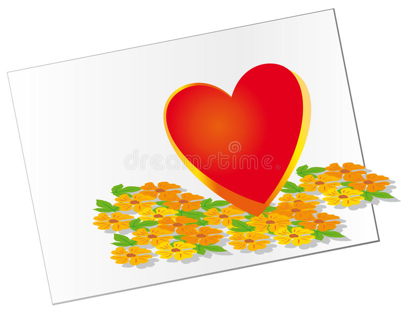 Download The Heart Of Spring Flowers For His Beloved Stock Vector - Illustration: 11997920