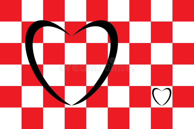 Heart and squares