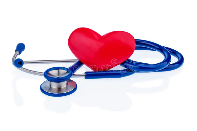 Heart and stethoscope royalty free stock image