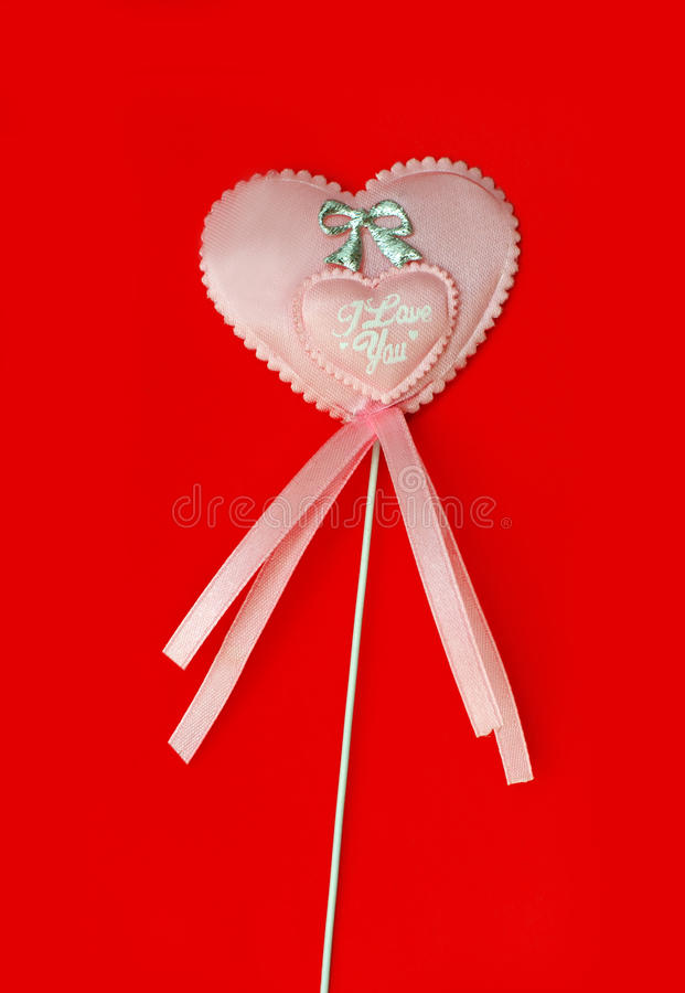 Download Heart on a stick stock photo. Image of decorate, amour - 28389056