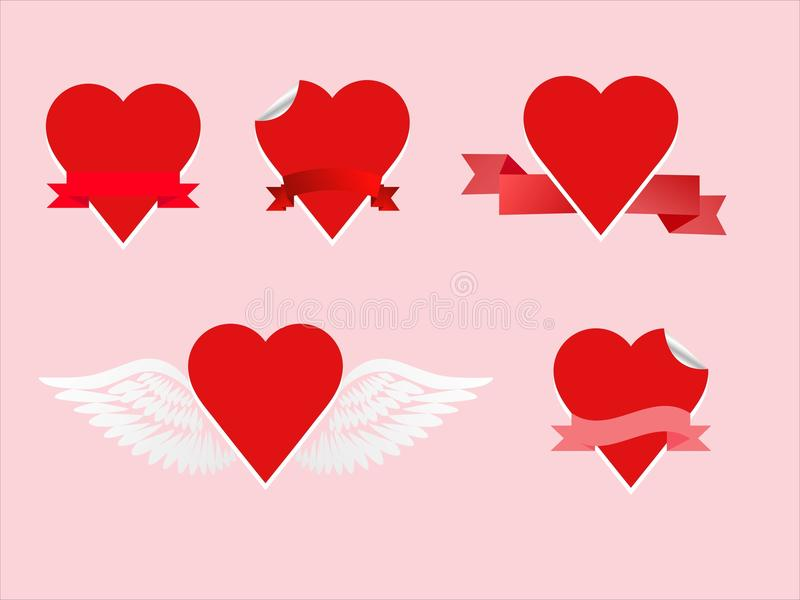 Heart stick set royalty free stock photos