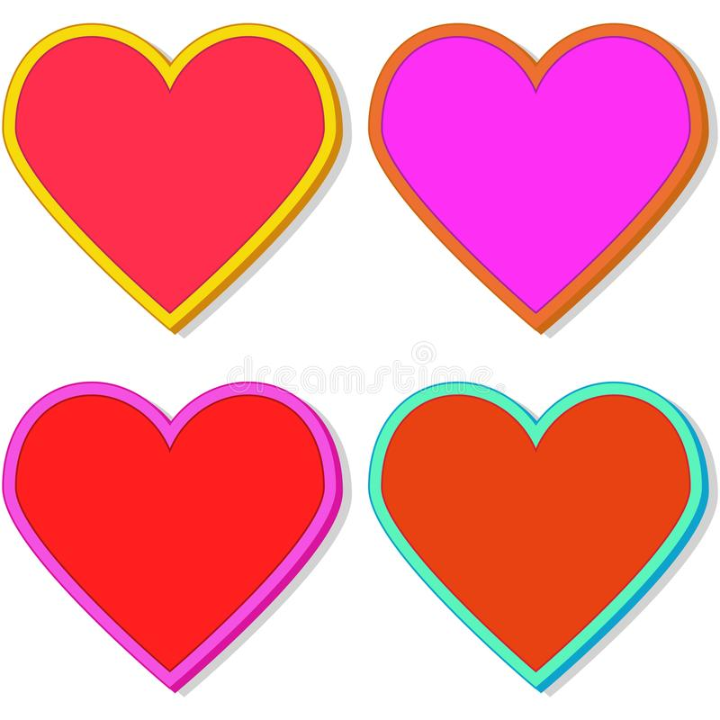 Heart_stickers stockfoto