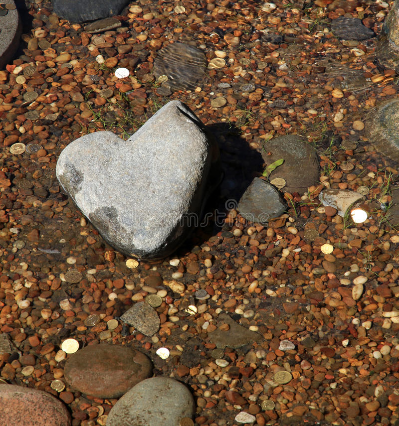 Heart stone.  Japanese rock-garden