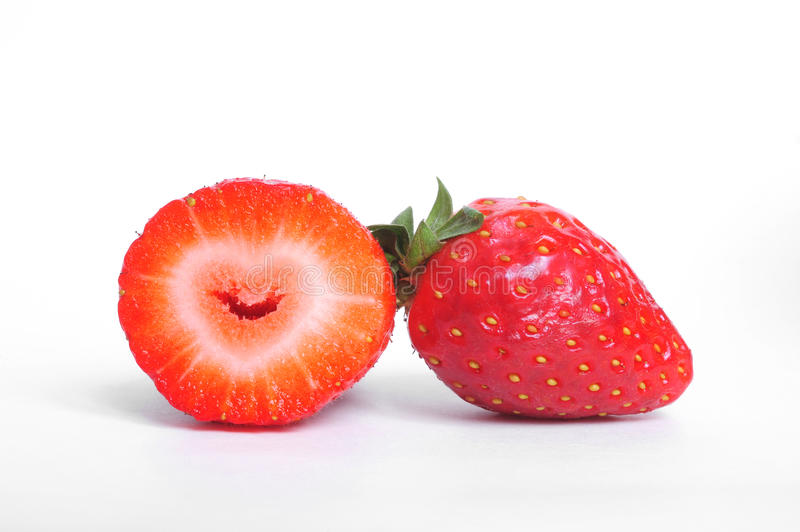 Download Heart in strawberry stock image. Image of vibrant, seeds - 18324351