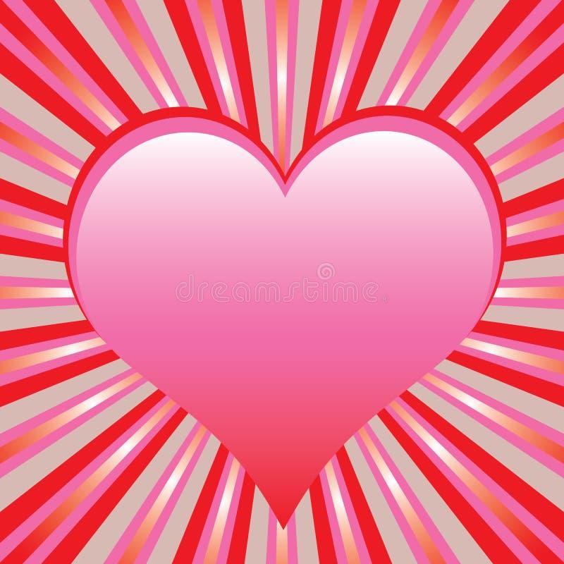 Heart with sunburst