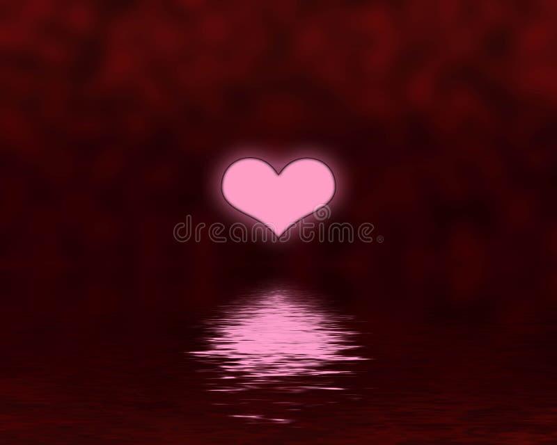 Heart sunset vector illustration