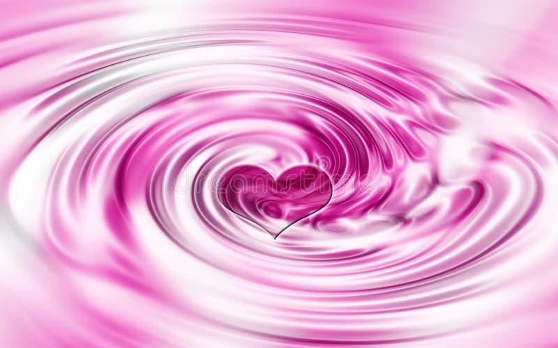 Heart swirl stock illustration