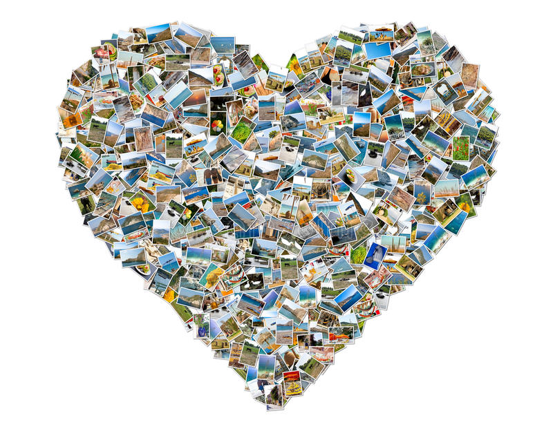 Download Heart symbol stock image. Image of heart, together, collage - 28943745
