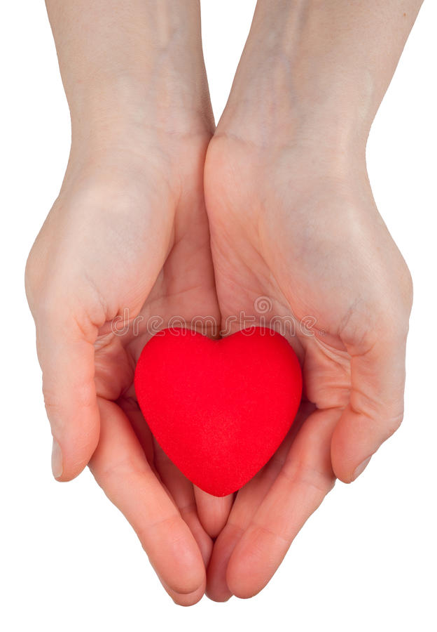 Download Heart symbol in hands stock photo. Image of handful, heart - 18430128