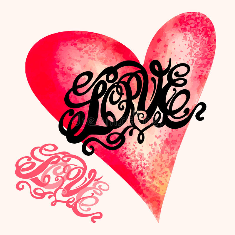 Heart symbol of love and Valentines day stock illustration