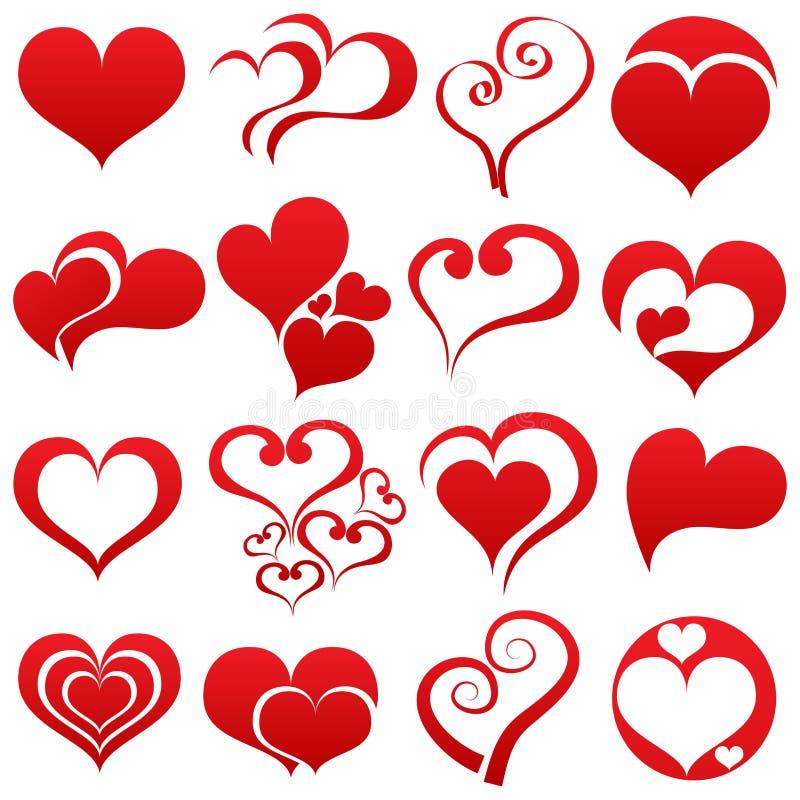 Heart symbol set royalty free illustration