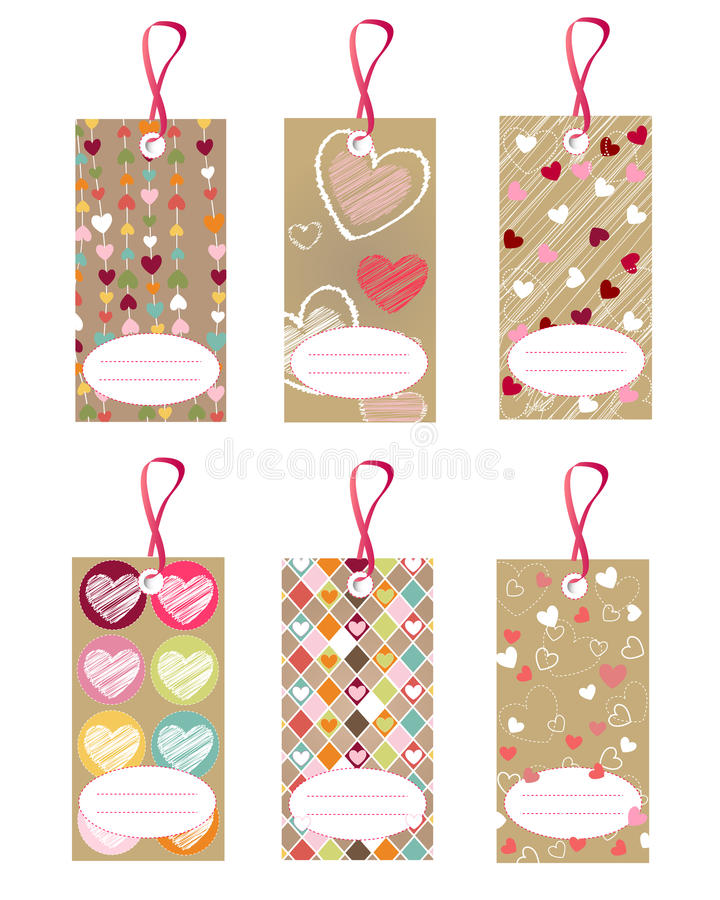 Free Heart Tags Stock Image - 16196561