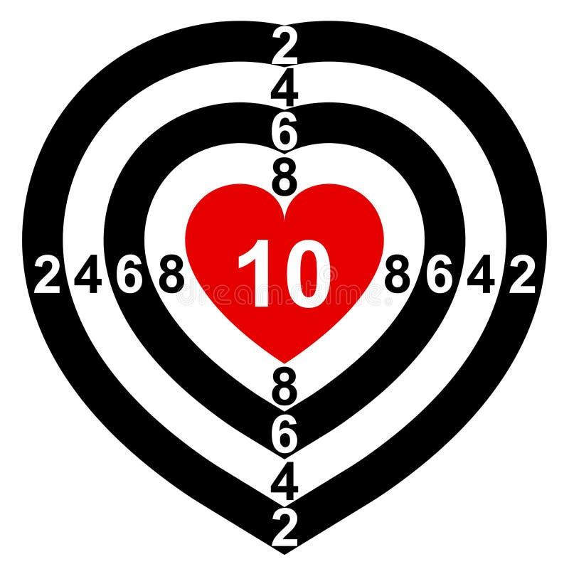 Download Heart-Target stock vector. Image of infatuation, symbol - 15505386