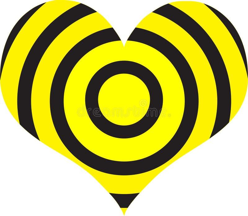 Heart target stock illustration
