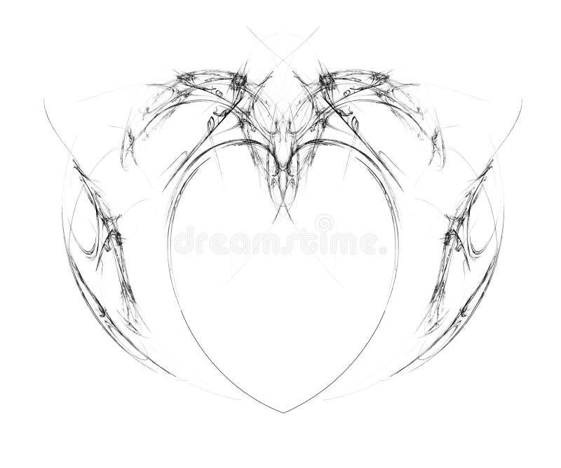 Heart tattoo stock illustration