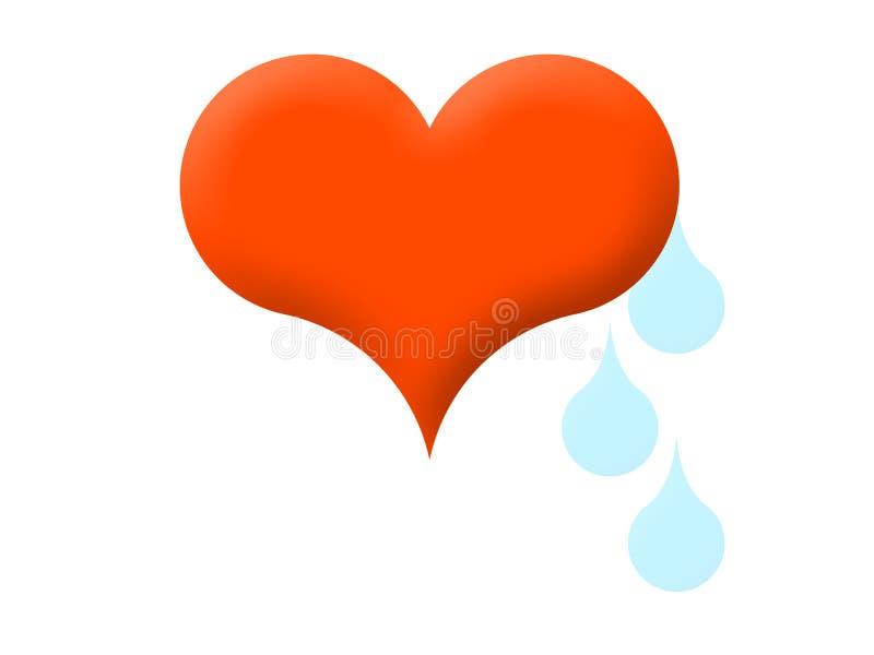 heart tears διανυσματική απεικόνιση