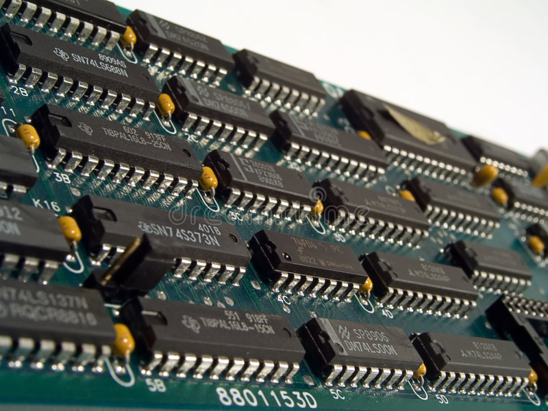 Heart Of Technology stock photos