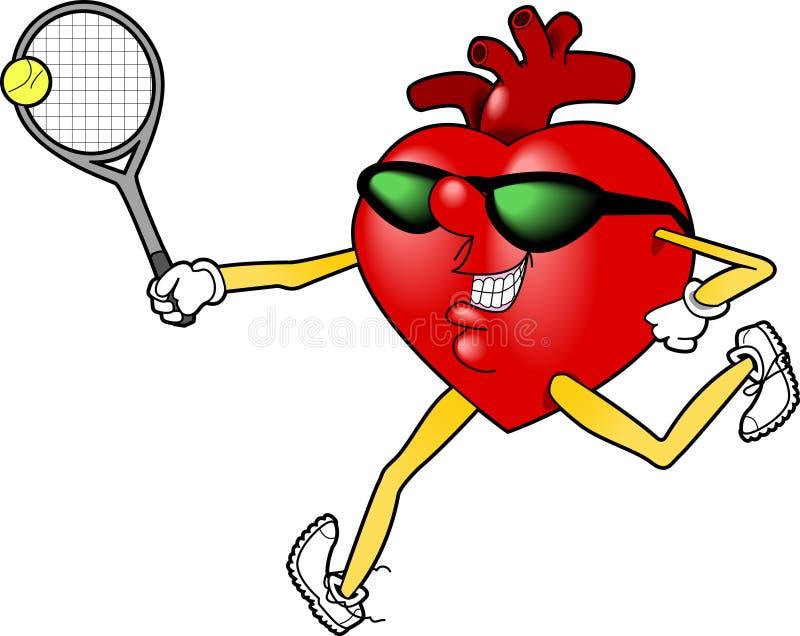 Heart_tennis.jpg stock de ilustración