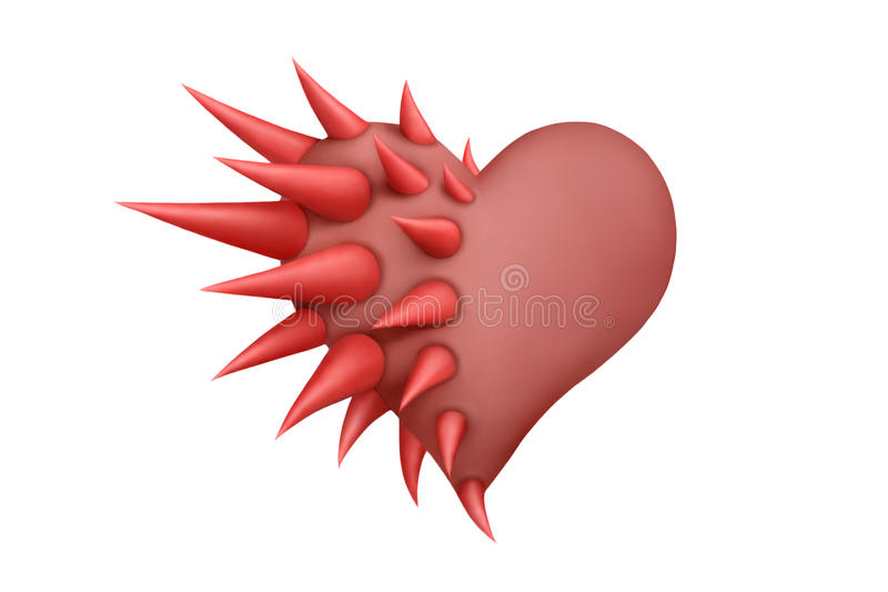 Download Heart thorns 2 stock illustration. Image of background - 21228497