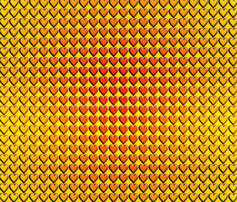 Download Heart tiles stock illustration. Image of geometric, block - 25275114