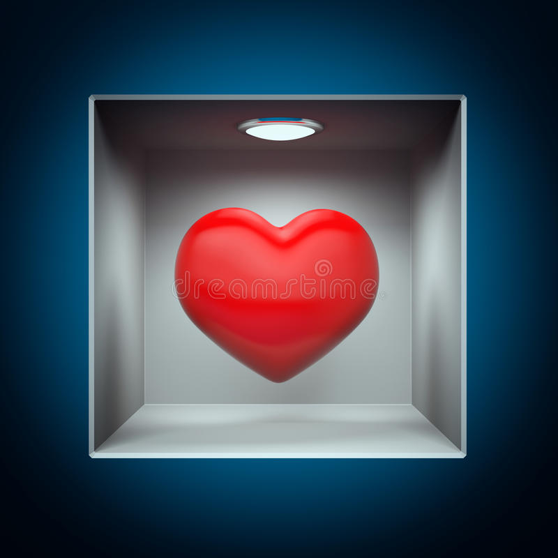 Heart to show royalty free illustration