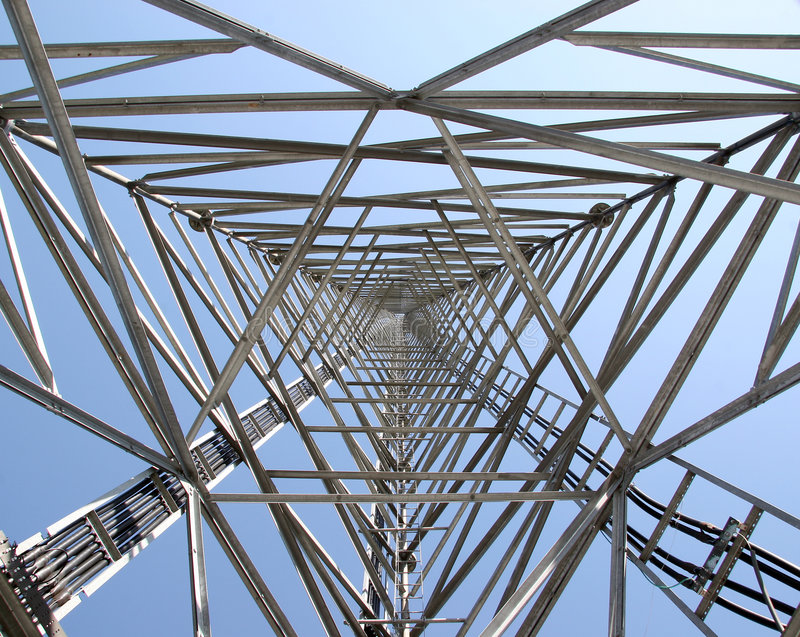 Download The heart of a tower stock image. Image of radio, antenna - 496167