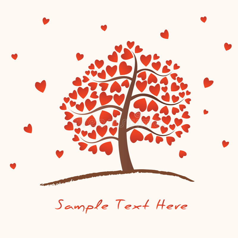 Heart Tree royalty free illustration