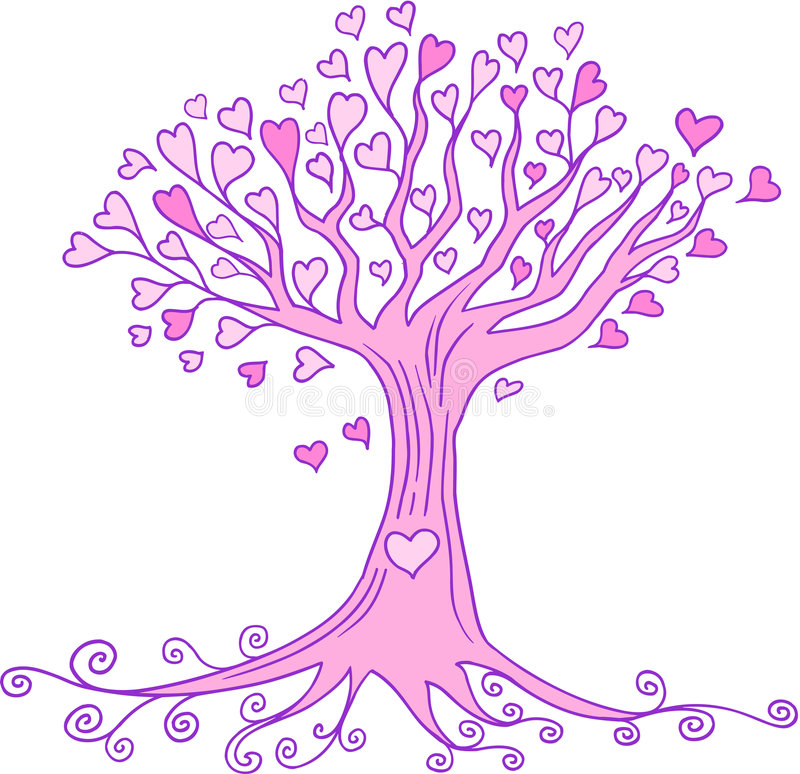 Heart Tree Vector royalty free illustration