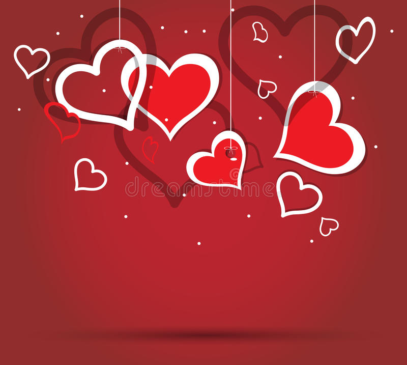 Heart valentine. Paper hearts for valentine day royalty free illustration