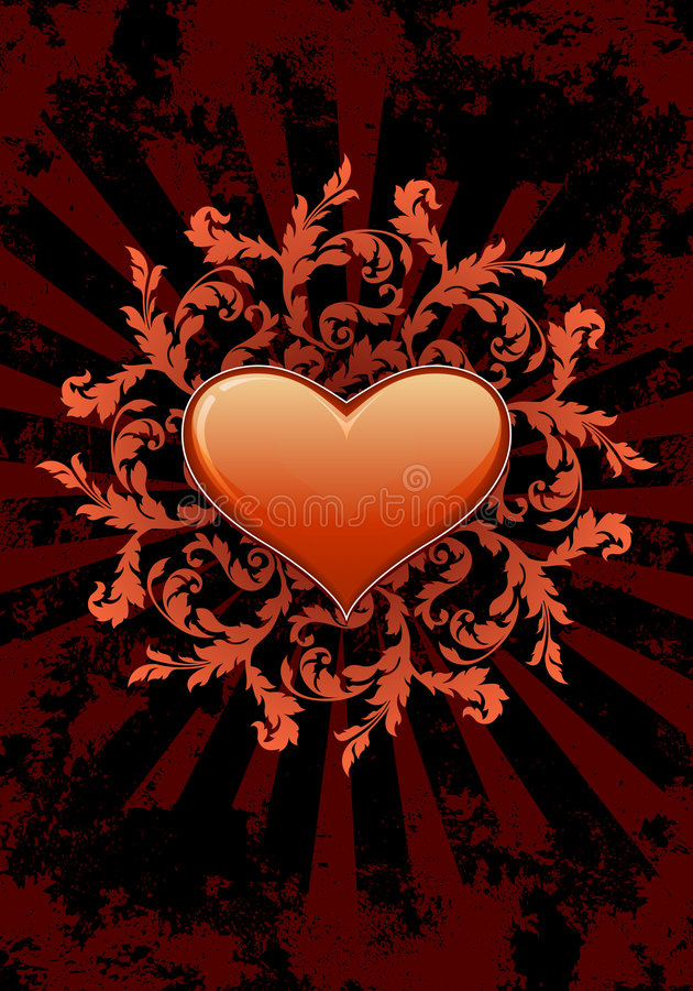 Heart Valentine Card stock photo