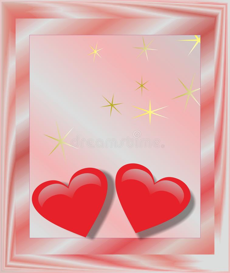 The heart valentine gift greeting card royalty free stock photos