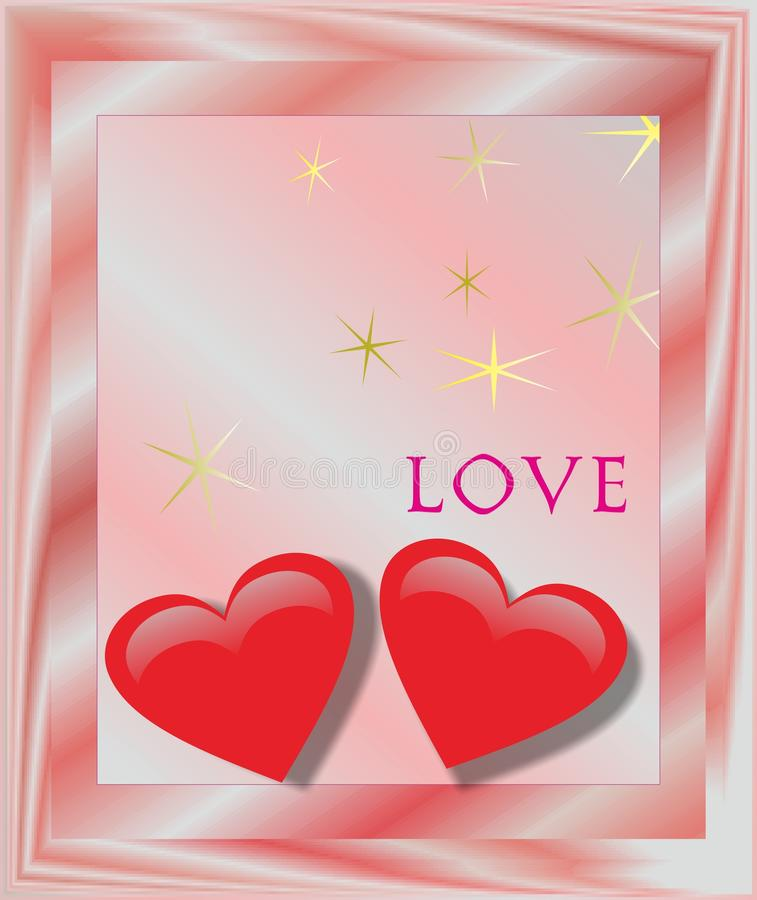 The heart valentine gift greeting card stock photos