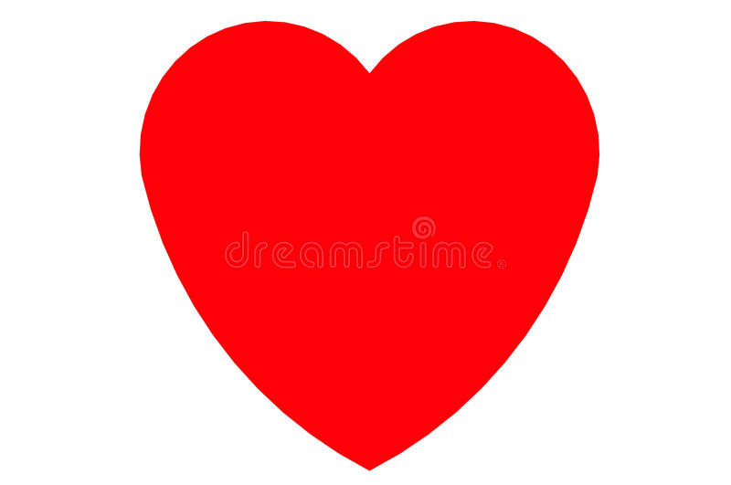 Heart valentine for happy day stock photo