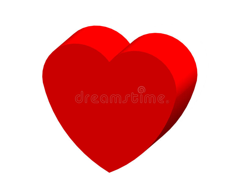 Heart valentine for happy day stock images